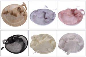 Новый 2019 Элегантная мода перо Mesh Люкс свадьба Шляпы / Fascinators для женщин партии Урожай головной убор Украшение SH190923