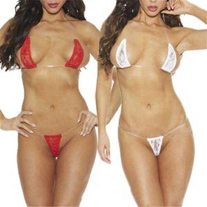 Le donne Plus Size Bra Lingerie Set biancheria intima sexy perizoma Halter Bikini S-XL Sexy Brief Set