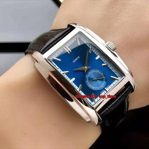 5 stil yüksek kaliteli İzle Gondolo Paslanmaz Çelik Otomatik Mekanik Erkek İzle 5124G-011 Mavi Deri Kayış Gents Watches Dial