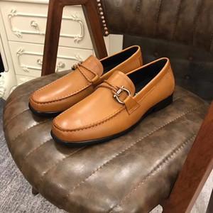 19SS zapatos para hombre de lujo Derby plana Oxfords Casual zapatos de cuero de la boda del Slip-On vestido de los hombres Zapatos Calzado de hombres de negocios más el tamaño 45