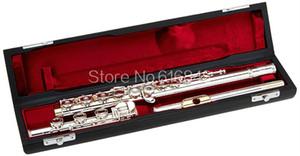 Gemeinhardt 3OB / GLP 17 Teclas de pozos abiertos plateado flauta C Tune Oro de labios flauta alta calidad con el caso de instrumentos musicales