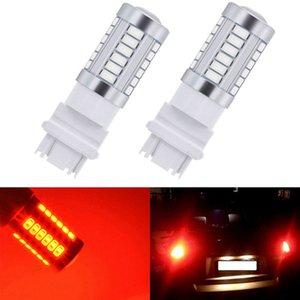 2 piezas de T25 3157 bombillas LED para los coches de frenos / Stop Lights Ámbar / Iluminación Blanco Rojo Led Lámparas de doble contacto las señales de giro automático nuevas