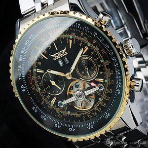 Мужские часы Лучший бренд класса люкс JARAGAR Мужчины Военные спортивные наручные часы Автоматические механические часы с турбийоном relogio masculino