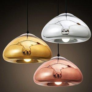 Shade Bronze d'or moderne Sliver Miroir Pendant Light E27 LED en verre Suspension moderne de Noël de boule en verre d'éclairage