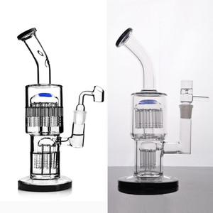TORO Recycler Bubbler Стеклянные бонги с диффузной двойной рукой Perc Water Pipe Water Pub Установка с 18 мм суставом
