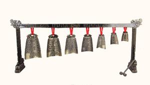 Home Décor meditazione Gong con 7 Ornato campana con strumento musicale disegno del drago cinese scelta 4 stile