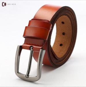 Hot selling new Mens womens black belt Genuine leather Business belts Pure color belt snake pattern buckle belt