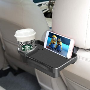 Car Tray Bracket Folding Dining Table Drink Holder Car Pallet Back Seat Water Cup Holder Rear Back Seat Travel Table