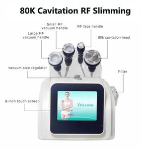 Di alta qualità 80K Macchina di cavitazione ultrasonica Fat Burning Cellulite vuoto di rimozione dispositivo RF cavitazione dimagrante Cavi Lipo Body Contouring