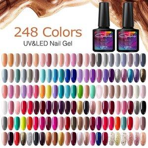 Modelones Nagelgelpoliermittel Glitter Farbe Rosa UVnagellack LacquerLong Dauerhafte UV-Gel-Lack tränken weg Base Top Coat