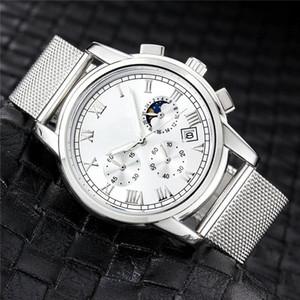 Top marques de grande taille Montre Homme Luxury Designer automatique Date de calendrier d'or montres-bracelets de style sport militaire Mesh numérique Homme horloge