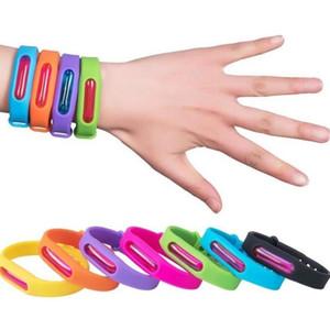 Anti Mosquito anneau bonbons Jelly imperméable couleur anti-moustique bande Bracelets enfants poignet en silicone main Band EEA1575 300PCS