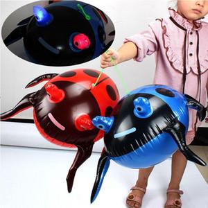 oğlan Yeni Yıl Hediyesi için Dostu PVC LED Işık Şişme Oyuncaklar Çocuk Beetle Ladybird Balonlar Şişme Karikatür Hayvanlar Oyuncak