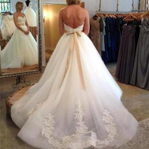 العاج كاملة فساتين الزفاف الرباط البلد نمط إلى pluging V الرقبة الأكمام كاب فساتين ثقب المفتاح خلف خط خمر مخصص الزفاف