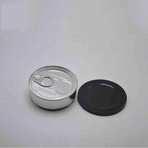 Nuovi 3.5g Erbe Tabacco metallo Tin Can Box Pop-Top Cali con Easy Open End e a prova di bambino Coperchio etichetta personalizzata 73 (D) x23 (H) mm
