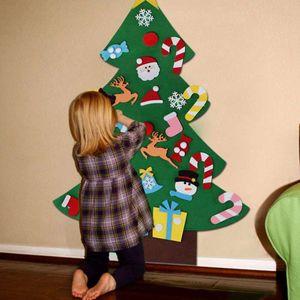Albero di Natale fai da te feltro creativo di natale Forniture pendente di bambini puzzle fatto a mano Giocattoli Christmas Party Decoration TTA1971-2