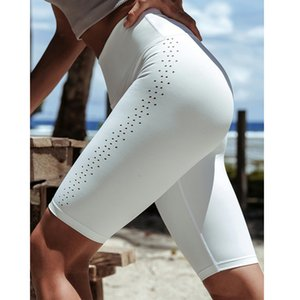 Yoga Shorts Female Gao Waist Fitness Pants Hip Sports Five Points Pants Speed Dry Running Training Tight Pants Breathable Thin Section