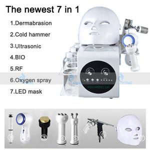 휴대용 7 in 1 Hydrafacial Water Peel Microdermabrasion Hydro Dermabrasion Facial Microcurrent Face Lift 초음파 스킨 케어 머신
