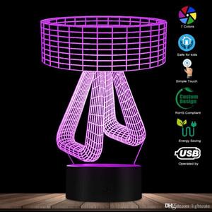 3D-Effekt kreative Tabellen-Lampen-Form entworfen Lampe Home Decor 3D optische Täuschung Atmosphäre Licht Schlafzimmer Nachttischlampe Mood Light