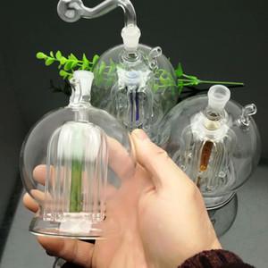 Super-large ventre rond multi-pince verre filtre bouilloire cigarette Vente en gros bongs en verre Brûleur à mazout Tuyaux d'eau en verre Rigs de pétrole Fumer Libre sh