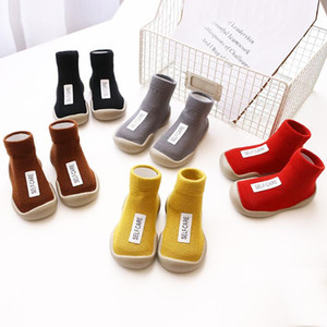 1pair Baby Walking Shoes Boy Girl Soft Anti Slip Indoor Shoes cotton Socks with Rubber Soles Newbring Summer Floor Socks