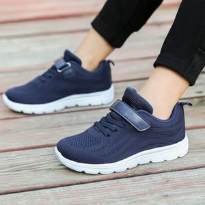 SKHEK 2019 niños del resorte del otoño zapatos de las muchachas de los zapatos de deporte cómoda de la manera tamaño respirable de las zapatillas de deporte al aire libre de los niños 25-36