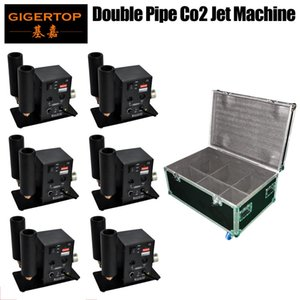 6in1 Flightcase Pack Double Pipe Tiptop Co2 Jet Machine Dual Gas Jet Nozzle 110v  220v Export Quality Compacted Size Tp -T27b Model