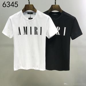 Los Ángeles diseñadores de moda AMIRI camiseta # 008 EE.UU. Off de manga corta para hombre del verano de las mujeres Streetwear Tops lujos punk rock tes blancas de la medusa