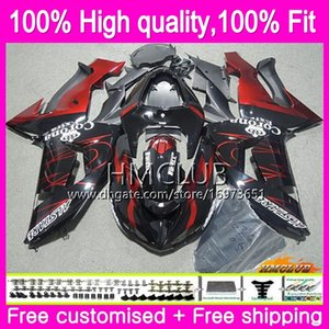 100%Fit Injection For KAWASAKI ZX1000 C ZX 10 R ZX-10R 06 07 Body 63HM.6 ZX10R 06 07 ZX1000C ZX 10R 2006 2007 OEM Fairing Kit Red sale