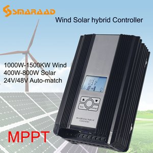 Rüzgar Jeneratörü Solar Panel için MPPT 1000w 1KW Güneş Rüzgar Güneş Kontrolör melez Denetleyici PWM 24V 48V Automatica Regülatörü