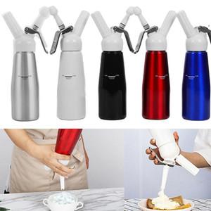 500ml Metall N2O Dispenser Creme Whipper Kaffee Dessert Saucen Eiskutter Peitschen Aluminium Edelstahl Schlag Frische Sahne Foam Maker DHD228