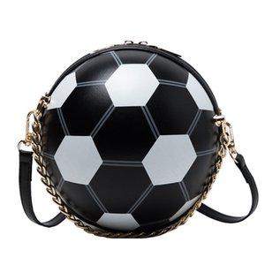 2020 Messenger Bags Mulheres Bolsa Personalidade Futebol Forma pequeno cadeia Rodada Totes e bolsas de ombro ocasional Mensageiro Bolsas