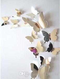 Miroir mural pur Durites Papillons 3 D Miroir mural pour Art Décoration Intérieure Salon Fenêtre Chambre Décoration
