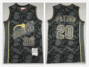 2020 Chinese New Year SeattleSuperSonicsMEN Gary Payton CITYHWC basketball Jersey