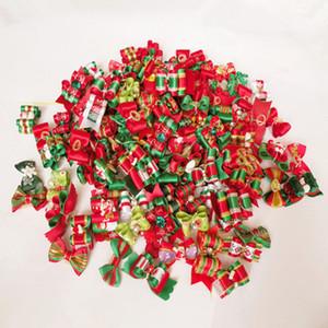 60PC / Lot de Noël Dog Hair Bows vacances Teddy Toilettage pour chiens Bows Accessoires pour animaux Cadeaux