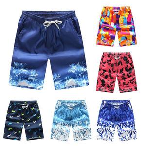 Plaj Şort Erkekler Trunk Yaz Kısa Pantolon Nefes Hızlı Kuru Swim Şort M-4XL Artı boyutu Mens Şort Yaz Swim Trunks yazdır