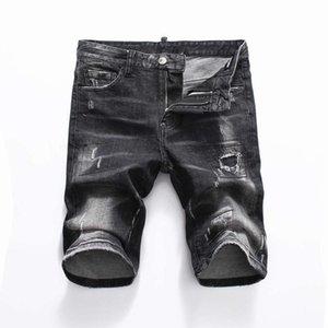 19ss Nuova famoso stilista Distressed mens jeans strappati Motociclista Jeans causale del denim del foro Pantaloni Streetwear mens jeans k1