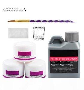 7 pcs Set Acrylic Nail Kit Nail Art Tools Kit Set Acrylic Crystal Acrylic Nail Brush