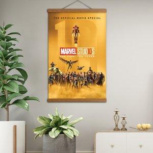 Marvel dieci anni pergamene in legno massello dipingono poster e stampe su tela per pareti per arredamento soggiorno