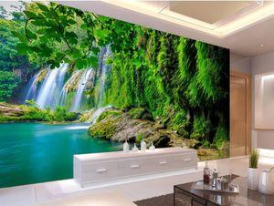 fondos de pantalla para la sala de montaña Arroyo de agua cascada de pared televisión de fondo verde fresco