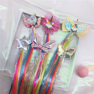 12 estilos Meninas Colorful Estrela da borboleta peruca Grampos Crianças clipes bonito cabelo lindo Headbands Acessórios Barrettes filhos Cabelo Presentes 2020