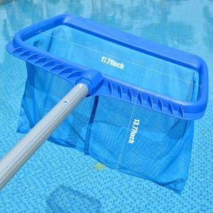 Piscine Skimmer Net Effeuillage Rake avec Deep Sac piscine Outil de nettoyage avec des cadres robustes de Deep Mesh Nets