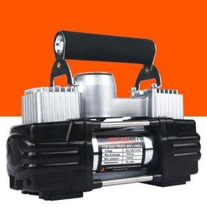 12V Car Air Pump Parallel Bars High Power Metal Air Pump Car Tire Compressor Digital Tire Inflator
