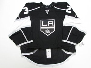 Cheap custom QUICK LOS ANGELES KINGS HOME JERSEY GOALIE CUT 58 stitch add any number any name Mens Hockey Jersey