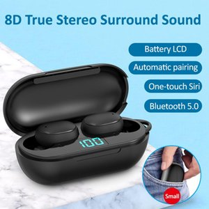 H6 TWS Sports Stereo True Wireless V5.0 Headset In-ear Noise Canceling Bluetooth 5.0 Headphone with LED Display Charging Box