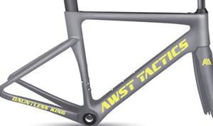 2018 ultimo frame moto modello SWOK bici del carbonio braccio cornice verde / blu / bianco / arcobaleno / argento full carbon T1000 UD matt / frameset del carbonio lucido
