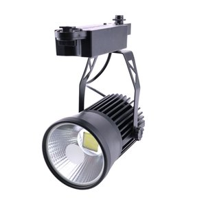 20 Watt Track Lighting Rail Lamp LED COB Clothing Shoes Store Spotlights 2 Wire Lighting AC 110V 220V 240V Black Shell