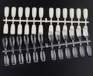 Heißer verkauf falsche nägel tipps polnisch nail art display praxis werkzeug nackt klar nail art zeigt platte