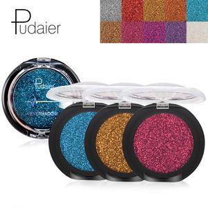 Pudaier Glitter Eye Shadow Palette Yeux Sombra Makeup Metallic Festival Eye Shadow Powder Shimmer Maquiagem Blue Eye Cosmetics