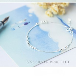 S925 silver bracelet women's light beads small silver ball bracelet fashion personality beads jewelry bracelet false one compensate ten